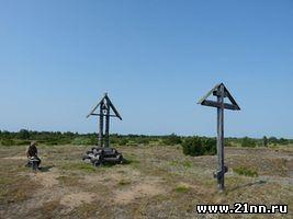 В Пустозёрске, на предполагаемом месте сожжения протопопа Аввакума, установлен старообрядческий крест