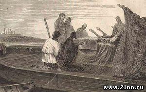 Смерть патриарха Никона (гравюра, 1870-е годы)